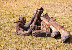 Camo Boots Stock Photography