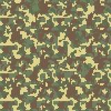 Camo de pixel Configuration sans joint de camouflage Les militaires camouflent la texture illustration stock
