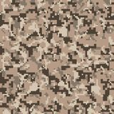 Camo de pixel Modèle sans couture de camouflage de Digital Texture militaire Couleur de désert de Brown illustration libre de droits