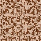 Camo de pixel Modèle sans couture de camouflage de Digital Texture militaire Couleur de désert de Brown illustration de vecteur