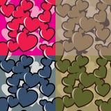 Camo dos corações Imagens de Stock Royalty Free
