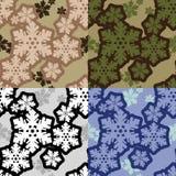 Camo dos flocos de neve Fotos de Stock Royalty Free