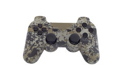 Camo gamepad isolated. On white background stock photo