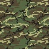 Camo khaki green. Camouflage seamless pattern. Woodland style Stock Photography