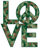 Camo Love=Peace Foto de Stock Royalty Free
