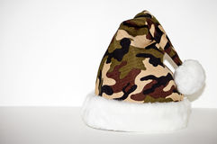 Camo Santa Hat Royalty Free Stock Image
