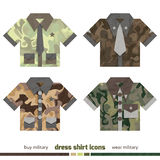 Camo shirts Royalty Free Stock Images