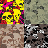 Camo Skull&Roses Στοκ Εικόνες