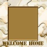 Camo welcome home Royalty Free Stock Photos