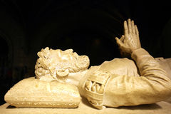 Camoes statua, Jeronimos monaster, Portugalia zdjęcia stock