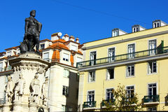 Camoes Suare, Lisbona, Portogallo Fotografia Stock