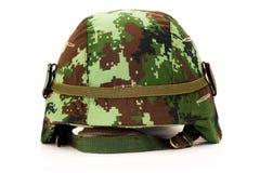 Camoflage Helmet Royalty Free Stock Photo