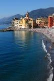 camogli意大利海边 免版税图库摄影
