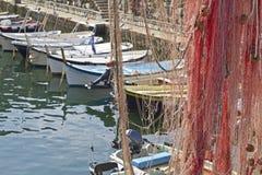 camogli捕鱼港口 库存图片