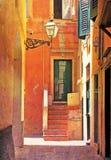 Camogli -意大利,老镇 免版税库存照片