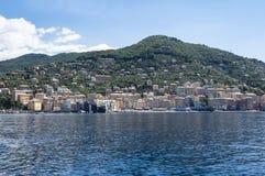 Camogli μια πόλη στην από τη Λιγουρία θάλασσα Στοκ Εικόνες