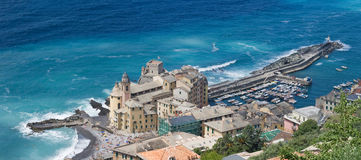 Camogli, aerial view Royalty Free Stock Images
