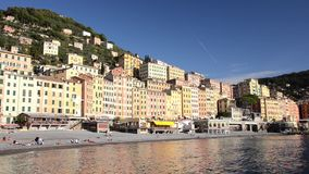 Camogli beach stock video footage