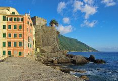 Camogli castle Royalty Free Stock Photos