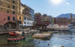 Camogli tourist resort in Liguria royalty free stock photography