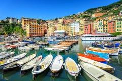 Camogli cerca de Génova, Italia Imágenes de archivo libres de regalías