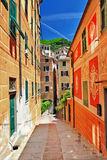 Camogli, colorful streets , Italy Royalty Free Stock Images