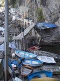 Camogli de la Ligurie et belle vue sur la ville et la mer Image stock