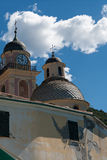 Camogli, dome and bell tower of St. Mary's Assumption Royalty Free Stock Photo