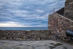 Camogli, el castillo Imagen del color Foto de archivo