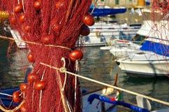Camogli fishing net Stock Images