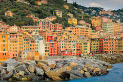 Camogli fishing and touristic village in Italy. Stock Photography