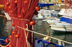 Camogli fisknät Arkivbilder