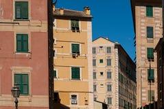 Camogli, Gebäude in der Mitte, neoklassisch lizenzfreies stockfoto