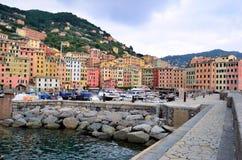Camogli Genoa, Italien Royaltyfri Bild