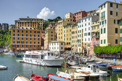 Camogli, Genova, touristic harbour view. Color image Stock Images