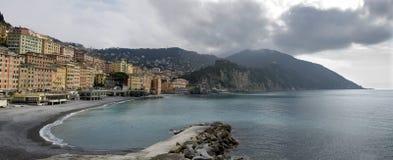 Camogli gray sky. Genoa, Italy on a day with leaden skies Royalty Free Stock Photos