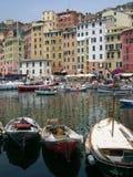 Camogli Hafen Stockbild