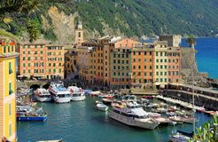 Camogli harbour Royalty Free Stock Images