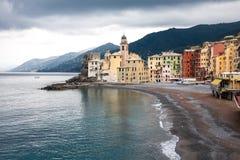Camogli, Italien stockbild