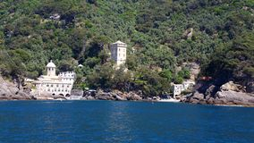 San Fruttuoso abbey, Camogli, Liguria, Italy royalty free stock photography