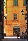 Bread shop in a narrow street in Camogli, Liguria Stock Photos