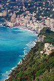 Camogli and its coastal surrounding Royalty Free Stock Photography