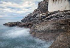 Camogli, las rocas del mar Imagen del color Imágenes de archivo libres de regalías