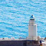 Camogli Lighthouse Royalty Free Stock Images