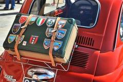 Camogli, Ligurië, Italië - September 20, 2015: Festival Fiat 500 Royalty-vrije Stock Afbeeldingen