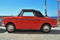 Camogli, Ligurië, Italië - September 20, 2015: Festival Fiat 500 Verzamelingsorganisatoren Fiat 500 Club Genua Levante Italië Royalty-vrije Stock Fotografie