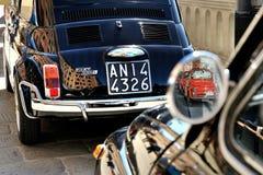 Camogli, Ligurië, Italië - September 20, het Festival Fiat 500 R van 2015 Royalty-vrije Stock Foto's