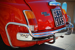 Camogli, Liguria, Italia - 20 settembre 2015: Festival Fiat 500 organizzatori di raduno il club Genova Levante Italia di Fiat 500 Immagine Stock