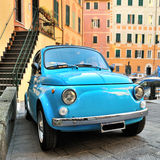 Camogli, Liguria, Italy - March 26, 2016 Fiat 500 Abart on Itali Stock Photography