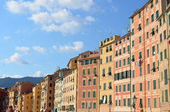 Camogli. Liguria. Sea and beach in Northern Italy, UNESCO SITE and Natural Reserve Royalty Free Stock Images